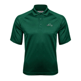 Dark Green Textured Saddle Shoulder Polo-WLC Diagonal w/ Sword