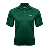 Dark Green Textured Saddle Shoulder Polo-Wisconsin Lutheran College Stacked