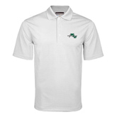 White Mini Stripe Polo-WLC Diagonal w/ Sword