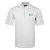 White Mini Stripe Polo-Wisconsin Lutheran College Stacked