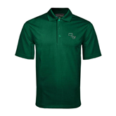 Dark Green Mini Stripe Polo-WLC Diagonal