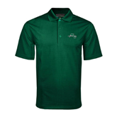 Dark Green Mini Stripe Polo-WLC Diagonal w/ Sword