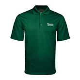 Dark Green Mini Stripe Polo-Wisconsin Lutheran College Stacked