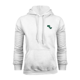 White Fleece Hoodie-WLC Diagonal