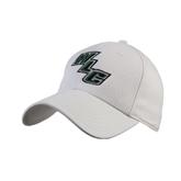 White Heavyweight Twill Pro Style Hat-WLC Diagonal