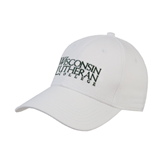 White Heavyweight Twill Pro Style Hat-Wisconsin Lutheran College Stacked