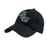Black Heavyweight Twill Pro Style Hat-WLC Diagonal