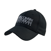 Black Heavyweight Twill Pro Style Hat-Wisconsin Lutheran College Stacked