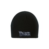 Black Knit Beanie-Wisconsin Lutheran College Stacked