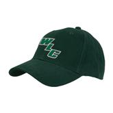 Dark Green Heavyweight Twill Pro Style Hat-WLC Diagonal