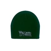 Dark Green Knit Beanie-Wisconsin Lutheran College Stacked