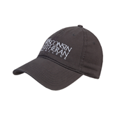 Charcoal Twill Unstructured Low Profile Hat-Wisconsin Lutheran College Stacked