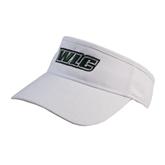 White Brushed Bull Denim Visor-WLC