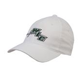 White OttoFlex Unstructured Low Profile Hat-WLC Diagonal w/ Sword