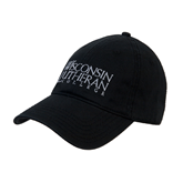 Black Twill Unstructured Low Profile Hat-Wisconsin Lutheran College Stacked