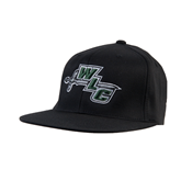 Black OttoFlex Flat Bill Pro Style Hat-WLC Diagonal w/ Sword