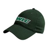 Dark Green Twill Unstructured Low Profile Hat-WLC