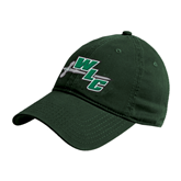 Dark Green Twill Unstructured Low Profile Hat-WLC Diagonal w/ Sword