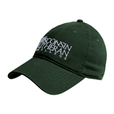 Dark Green Twill Unstructured Low Profile Hat-Wisconsin Lutheran College Stacked