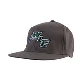 Charcoal Flexfit Flat Bill Pro Style Hat-WLC Diagonal w/ Sword
