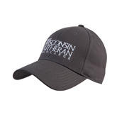Charcoal Heavyweight Twill Pro Style Hat-Wisconsin Lutheran College Stacked
