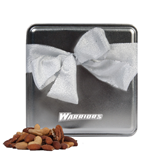 Deluxe Nut Medley Silver Medium Tin-Warriors Engraved