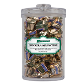 Snickers Satisfaction Large Round Canister-Wisconsin Lutheran College Warriors