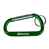 Green Carabiner with Split Ring-Warriors Engraved