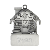 Pewter House Ornament-Wisconsin Lutheran College Stacked Engraved