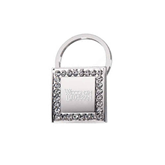Crystal Studded Square Key Holder-Wisconsin Lutheran College Stacked Engraved