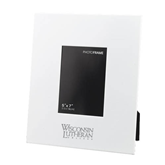 White Metal 5 x 7 Photo Frame-Wisconsin Lutheran College Stacked Engraved