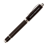 Luna Black Rollerball Pen-Wisconsin Lutheran College Flat Engraved