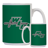 Full Color White Mug 15oz-WLC Diagonal w/ Sword
