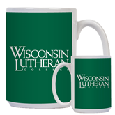 Full Color White Mug 15oz-Wisconsin Lutheran College Stacked