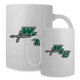 Alumni Full Color White Mug 15oz-Alumni - Wisconsin Lutheran College Warriors