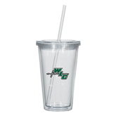 Madison Double Wall Clear Tumbler w/Straw 16oz-WLC Diagonal w/ Sword