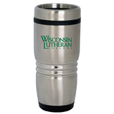 Rolling Ridges Silver Stainless Tumbler 16oz-Wisconsin Lutheran College Stacked