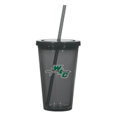 Madison Double Wall Charcoal Tumbler w/Straw 16oz-WLC Diagonal w/ Sword