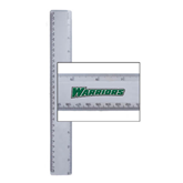 12 Inch White Plastic Ruler-Warriors