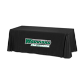 Black 6 foot Table Throw-Fan Corner - Wisconsin Lutheran College Warriors