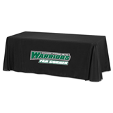 Black 8 foot Table Throw-Fan Corner - Wisconsin Lutheran College Warriors