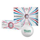Callaway Supersoft Golf Balls 12/pkg-Wisconsin Lutheran College Stacked