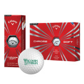Callaway Chrome Soft Golf Balls 12/pkg-Wisconsin Lutheran College Stacked