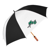 62 Inch Black/White Umbrella-WLC Diagonal w/ Sword