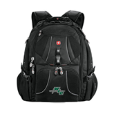 Wenger Swiss Army Mega Black Compu Backpack-WLC Diagonal w/ Sword