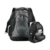 Wenger Swiss Army Tech Charcoal Compu Backpack-WLC Diagonal w/ Sword
