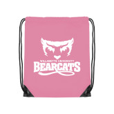 Light Pink Drawstring Backpack-Primary Mark