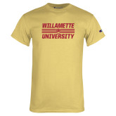 Champion Vegas Gold T Shirt-Stacked Willamette