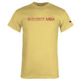 Champion Vegas Gold T Shirt-MBA Flat Mark