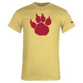 Champion Vegas Gold T Shirt-Paw Silhouette